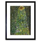 KLIMT THE SUNFLOWER 1907 OLD MASTER BLACK FRAMED ART PRINT B12X247