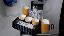 Boardservice Trayset | Lufthansa Kanne | Flugzeugtablett | Besteckset | Tassen