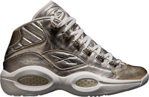 Reebok Hommes Question Mi Célébrer Hall Of Fame Shoe Argent Métallique Dore 6.5