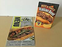Al's Italian Beef Restaurant, Chicago Vintage Menu and Table Top sign FREE ship