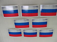 8 RUSSIA FLAG Sticker Decal LOT 4 boat car Window Truck suv Wholesale RUSSIAN