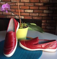 $149 NWOB - JOSEF SEIBEL - Red LEATHER Slip On COMFORT Loafers Women's 10.5