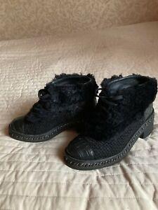 Authentic rare Chanel combat boots size 38 EU, 7 US