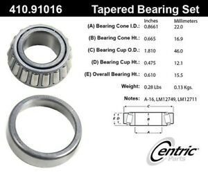 410.91016 Centric Parts Wheel Bearing And Race Set P/N:410.91016
