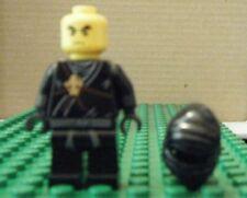 LEGO MINIFIGURE–NINJAGO, COLE, GOLDEN WEAPONS (NO SWORD) - GENTLY USED