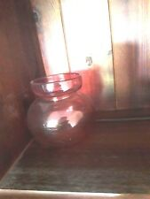 Cranberry glass vase possible pour ampoule Jacinthe