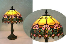 Flowery Design, Clear Jewels effect Glass Tiffany Style Table Lamp