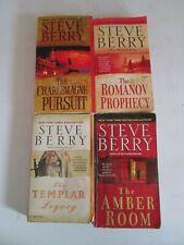 STEVE BERRY LOT 4 PAPERBACKS Cotton Malone Romanov Prophecy Charlemagne Pursuit