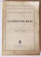 PRL) 1932 ANTIQUE BOOK LIBRO LIVRE LA LEGGE DEL MARE CONTRATTO ASSICURAZIONE