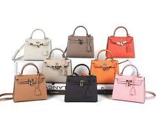 25cm Top Handle Kelly Bag Saffiano Leather Satchel Crossbody Handbag