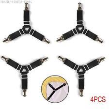 4 pcs Bed Suspender Strap Mattress Fastener Holder Triangle Grippers Sheet Clips