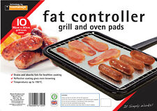 10 x FAT CONTROLLERS.  FAT TRAPPER COOKING PADS. GRILL AND OVEN, ABSORBS FATS
