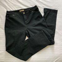 J Jill Tried And True Slim Leg Black Stretch Denim Jeans Size 10 Petite