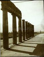 Italia Pompei Colonnes Antiche c1910, Foto Stereo Vintage Placca Lente VR5L2