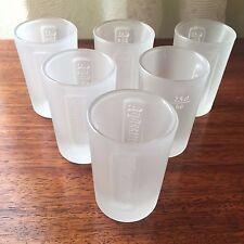 6 X Jagermeister Frosted Shot Glass - Brand New - Genuine Jäger Merchandise