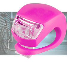 Silicone Bicycle Light Front & Rear Bike Light Set Pink Push Cycle Light Clip