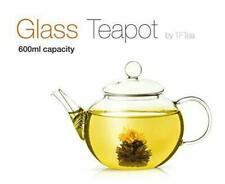 TFTea Glass Teapot 600 ml with strainer - Perfect for Flowering Tea