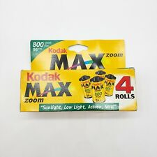Kodak Max 800 Zoom 35mm Film 4 Rolls 24 Exposures Each Expired 10/2001 NOS NEW