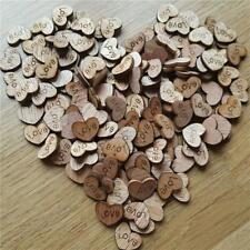 100x Wooden Rustic Love Letter Heart Wood Chip Wedding Table Scatter Decor MA