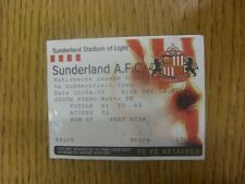 10/04/1999 Ticket: Sunderland v Huddersfield Town (creased). Any faults are note