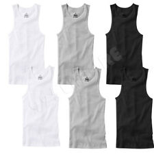 6 PACK Men Tank Top White 100% Cotton Undershirt Ribbed Size:S/Medium/Large/XL