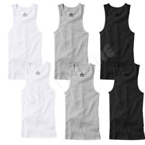 6 PACK Men Tank Top White 100% Cotton Undershirt Ribbed Size:S/Medium/Large/XL