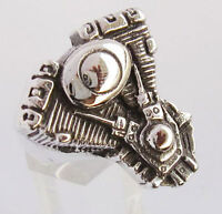Stainless  V-Twin Engine Biker Ring Custom size Chopper Pan head Motorcycle R2ss