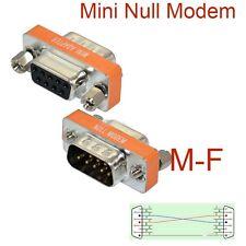 High Quality Mini Null Modem DB9 Female to DB9 Male plug Adapter Gender Changer