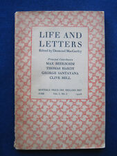 MAX BEERBOHM Two Glimpses of Andrew Lang in 1st Issue of 'Life & Letters'