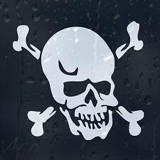 Skull Head Crossbones Car Or Laptop Decal Vinyl Sticker For Window Panel Bumper