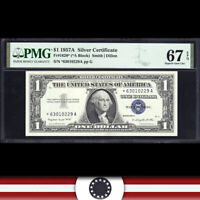 1957-A $1 SILVER CERTIFICATE *STAR REPLACEMENT* PMG 67 EPQ  Fr 1620* *63010229A