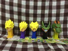 New Dragon Ball Z Bandai 2007 Gashapon Figures Mini Pez Part 3 5PCS RARE PEZ Set