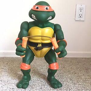 """GIANT Michelangelo Tmnt 13"""" Teenage Mutant Ninja Turtles Vintage 1989 Nunchucks"""