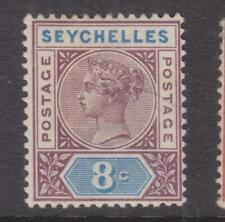 SEYCHELLES, 1892 QV, Die I, 8c. Brown Purple & Ultramarine, lhm.