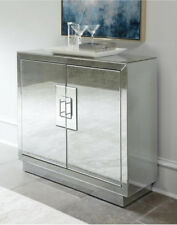 Lily Mirrored Cabinet Antiqued Mirror Chest Bar Modern Contemporary Horchow