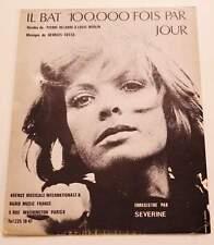 Partition vintage sheet music SEVERINE : Il Bat 100000 Fois par Jour * 70's