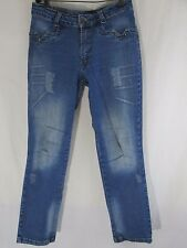 MAMAO VERDE Authentic Brazilian Jeans Ultra-low w/ studs Size 7/9 Inseam 28  a10