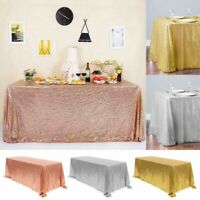 Rectangle Sequin Glitter Tablecloth Table Cloth Cover for Wedding Party Birthday
