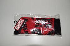Deadpool Crew Socks Marvel Comics Print All Over Red Black Logo Men NEW