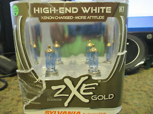 Sylvania H7 High End White SilverStar ZXE Gold Xenon 2 Bulbs NEW