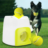 Automatic Ball Launcher Interactive Dog Fetch Toy Pet Ball Throwing Game
