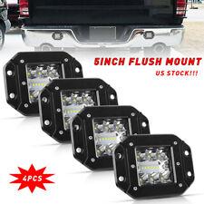 4x 5inch Cree Led Work Light Flush Mount Reverse Fog Driving Lamp Pickup Truck