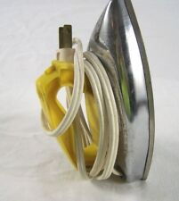 Wolverine 120V 5W Plug In Electric Iron Vintage Made in USA Yellow