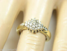 Anillos de joyería con diamantes en oro amarillo de 24 quilates diamante