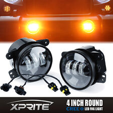 Xprite 30W 60W Amber CREE LED Projector Fog Lights for Jeep Wrangler JK 4 Inch