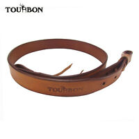 "Tourbon Genuine Leather Shotgun Sling Shoulder Strap Hunting Vintage 33""-40"""