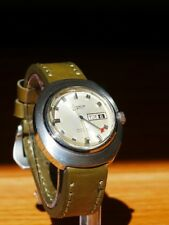 Bulova Caravelle Swisss Vintage Watch Automatic Airplane Air Plane Pilot Jet XL