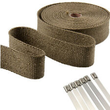 Basalt fiber Insulation anti-hot Exhaust/Header Heat Wrap Cable Ties 1.5*25*15m