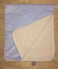 Beansprout Blue Plush Baby Blanket Cream Off White Sherpa Plush Lovey