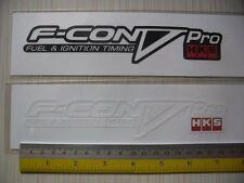 2 HKS F-CON V PRO di-cut sticker decals, JDM aftermarket racing sponsor